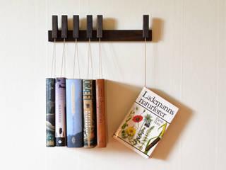 Mini book rack in Fumed Oak agustav Corridor, hallway & stairsClothes hooks & stands