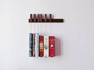 Mini book rack in Walnut agustav Living roomShelves