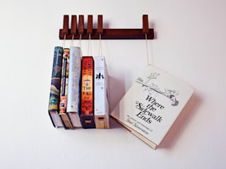 Mini book rack in Walnut agustav Corridor, hallway & stairsClothes hooks & stands