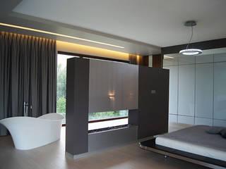 Dom w Gorzowie: styl , w kategorii Sypialnia zaprojektowany przez STRUKTURA Łukasz Lewandowski