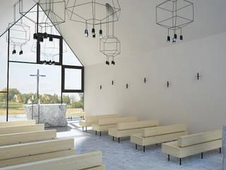 KAPLICA W POLU - WNĘTRZA Nowoczesne domy od 90 stopni Nowoczesny