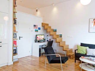 Livings de estilo moderno de dziurdziaprojekt Moderno