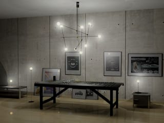 Chandelier ST-9 Minimalist living room by Intuerilight Minimalist