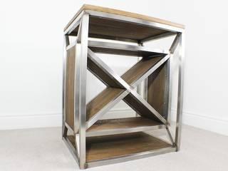 Dulla X Frame Industrial Wine Rack:   by Russell Oak and Steel Ltd