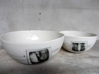 Collection Wabi Sabi : petite série en porcelaine, Art de la table:  de style  par Atelier céramique