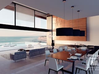 Minimalist dining room by i-project Minimalist