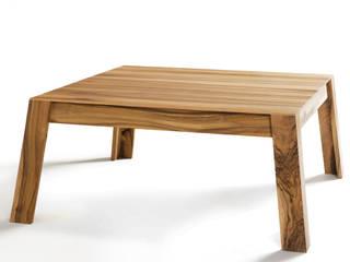 Table basse Aix en noyer:  de style  par Atelier Hugo Delavelle