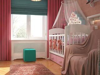 Детская с бабочками: Детские комнаты в . Автор – «Студия 3.14»