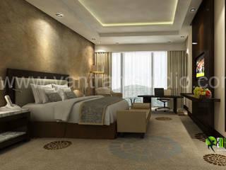 3D Classic Bedroom Interior Design: modern  by Yantram Architectural Design Studio, Modern