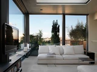 Penthouse - Milano: Soggiorno in stile in stile Moderno di MRP ARCHITETTURE SRL