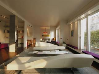 Private House - Milano : Soggiorno in stile in stile Moderno di MRP ARCHITETTURE SRL