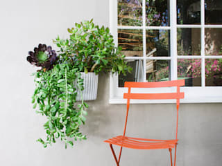 rstudio Rustic style balcony, veranda & terrace