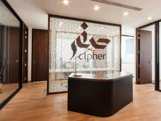 Cipher, Investment, Dubaï Espaces de bureaux modernes par Dominique Herbillon & Edouard Augustin Moderne