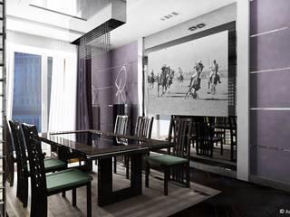 Квартира в Москве Столовая комната в классическом стиле от Юлия Кирпичева Классический