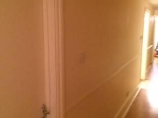 White shower room at Battersea London SW8 by Design Inspired Ltd