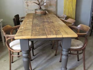 Rock eettafel, demontabel in Antraciet:   door Were Home, Rustiek & Brocante