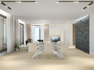 Comedores de estilo escandinavo de Center of interior design Escandinavo