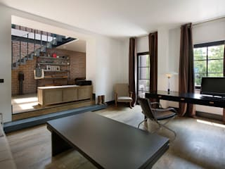 Industrial style study/office by Udesign Architecture Industrial