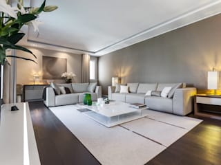 Comfort of modern - Interior design for the apartments in Monaco Livings de estilo moderno de NG-STUDIO Interior Design Moderno