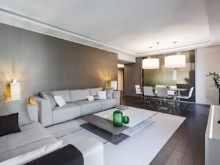 Comfort of modern - Interior design for the apartments in Monaco Modern living room by NG-STUDIO Interior Design Modern