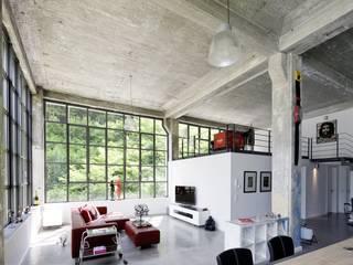 Lofts - Tuchfabrik Hauser - Architektur Industriale Wohnzimmer