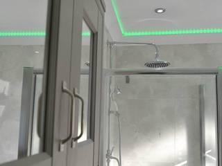 Bath & shower room at Royal Victoria Docks E16 by Design Inspired Ltd