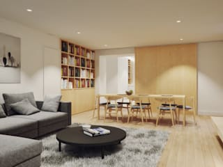Casa em Lavra, Matosinhos Salas de estar minimalistas por homify Minimalista