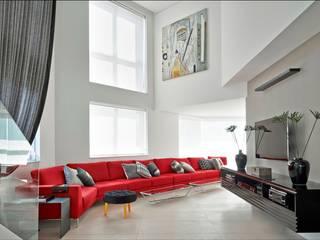 Salas / recibidores de estilo  por Cassio Gontijo Arquitetura e Decoração, Moderno