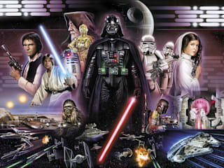 Star Wars Photomural 'Darth Vader Collage' ref 8-482 di Paper Moon Moderno