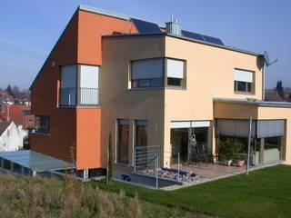 Neubau Einfamilienhaus /Doppelhaushälfte in Offenburg:  Häuser von Freier Architekt Herbert FRANZ