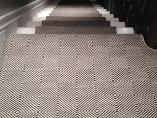 Flatweaves ~ Diamond Stair runner in London home:   by Cavalcanti