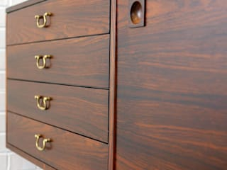 Rich rosewood, solid brass detailing and no legs!:   by Sweet-Vintage