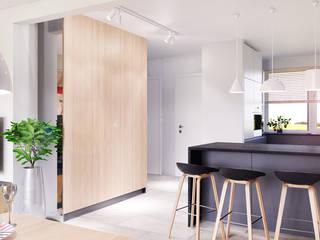 D&L mieszkanie Minimalistyczny korytarz, przedpokój i schody od hanczar studio Minimalistyczny
