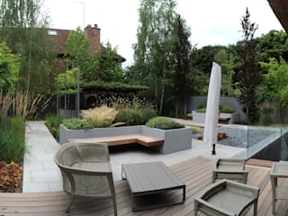 Contemporary London garden Borrowed Space สวน