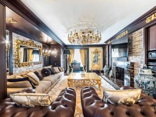 Интерьер загородного дома в стиле Эклектика Гостиные в эклектичном стиле от Belimov-Gushchin Andrey Эклектичный