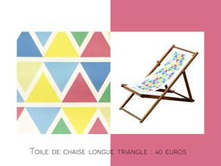 Toile de chaise longue modèle Triangle:  de style  par Les Petites Rochelaises