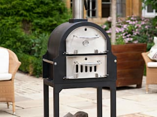 Multi-function wood fired outdoor ovens La Hacienda JardinCheminées & Barbecues
