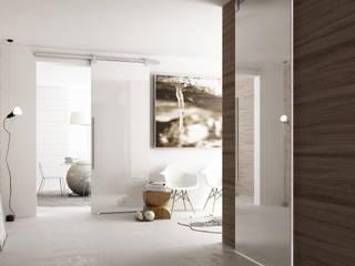 Porta scorrevole Glass: Finestre in stile  di Staino&Staino