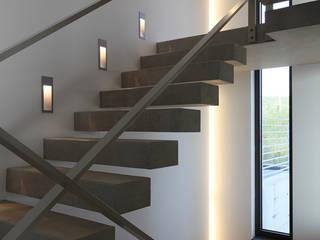 wirges-klein architekten Ingresso, Corridoio & Scale in stile moderno