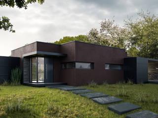 VIlla Greenwood DomusGaia Ingresso, Corridoio & Scale in stile minimalista
