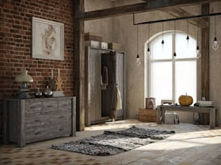 rustic Living room by Seart