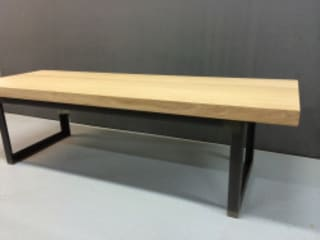 Banc/table basse métal et bois:  de style  par Adore Lupo