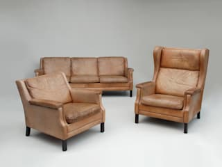Danish Leather Suite, Sofa and Armchairs Apollo Living roomSofas & armchairs