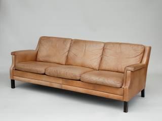 Danish Leather Suite, Sofa and Armchairs de Apollo Escandinavo