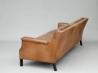 Danish Leather Suite, Sofa and Armchairs od Apollo Skandynawski