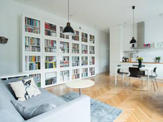 Scandinavian style living room by dziurdziaprojekt Scandinavian