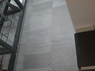 Architectural concrete slabs for modern and industrial interior Industrial style corridor, hallway and stairs by Luxum Industrial