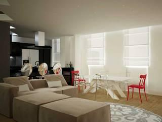 3D Interior Design: Soggiorno in stile  di Walls 3D Vizualization