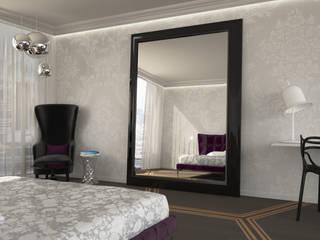 Render Camera-Londra Camera da letto eclettica di Walls 3D Vizualization Eclettico