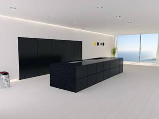 Cucina Minimal: Cucina in stile in stile Minimalista di Walls 3D Vizualization